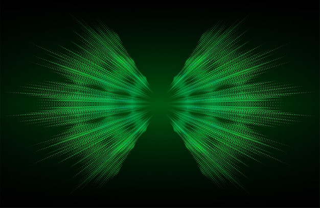 Onde sonore oscillanti sfondo verde scuro chiaro