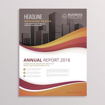 Ondulato brochure flyer template disegno vettoriale astratto per il business in formato a4