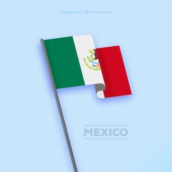 Ondulato sfondo bandiera messicana