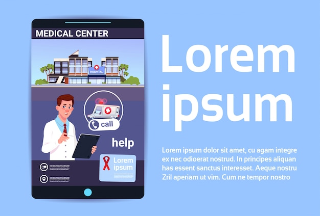 Online medical center mobile hospital or clinic app