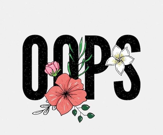 Oops lettering