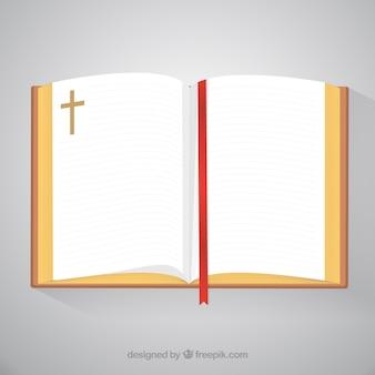 Open bible top view
