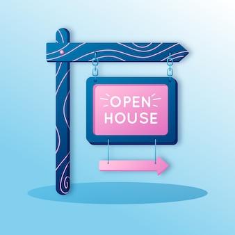 Open house immobiliare segno stile