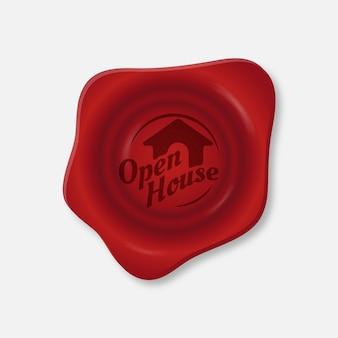 Open house in stile etichetta rossa