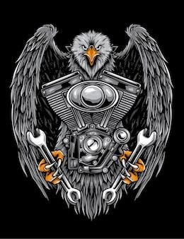 Opera d'arte della società dei motociclisti