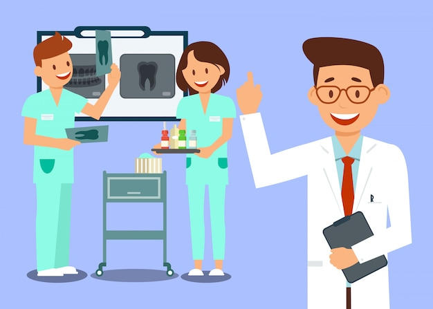 Operai della clinica dentale