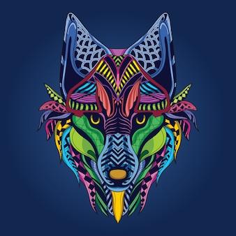 Opere d'arte di lupo