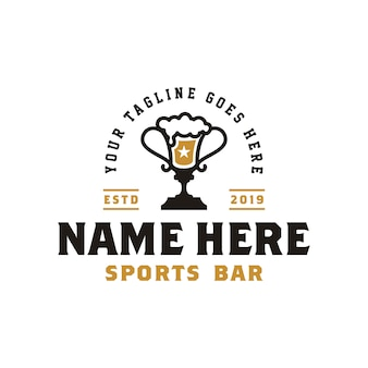 Ophy cup & beer per il logo vintage retro sport bar