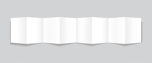 Opuscoli di carta realistici su sfondo grigio con ombre morbide, boklet