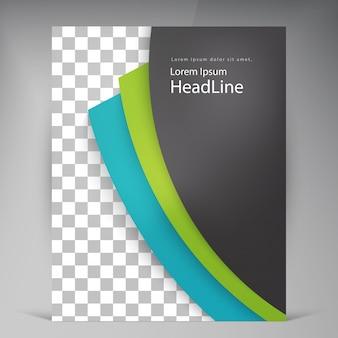 Opuscolo astratto moderni volantini brochure.