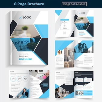 Opuscolo blu 8 pagine Design for Business