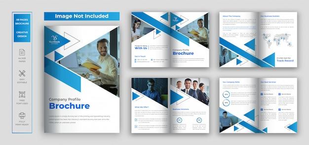 Opuscolo sul profilo aziendale di pages, brochure pieghevole per le imprese