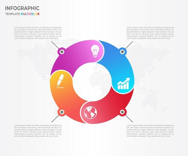 Opzioni astratte del cerchio infographic 4