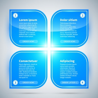 Opzioni blu infographic