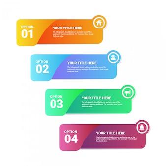 Opzioni del modello 4 di infografica