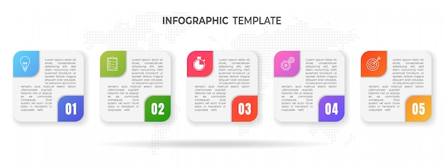 Opzioni di infografica moderna timeline.