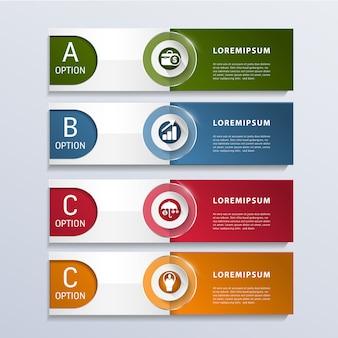 Opzioni di infographic 3 di affari moderni