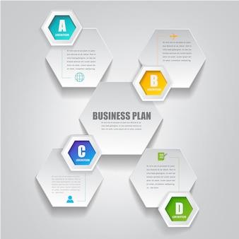 Opzioni infographic di affari moderni
