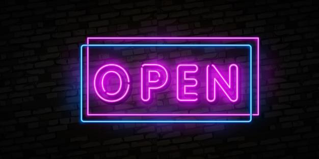 Ora apri testo al neon