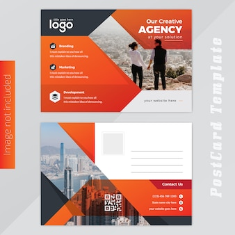 Orange post card design