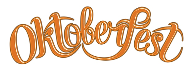 Orange scribble text oktoberfest