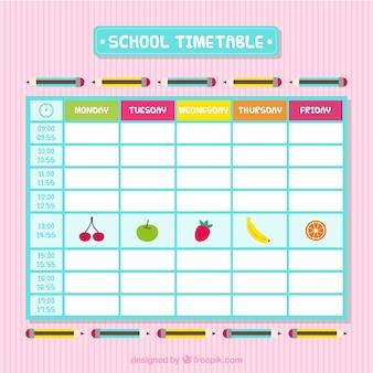 Orario scolastico con frutta