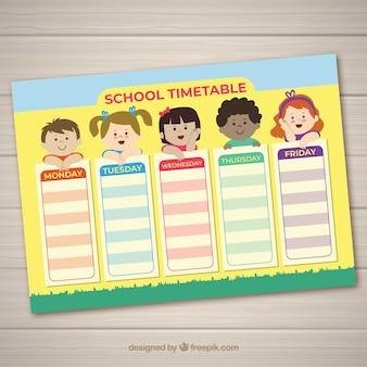 Orario scolastico con i bambini