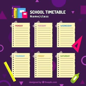 Orario scolastico per organizzare le attività