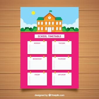 Orario scolastico rosa