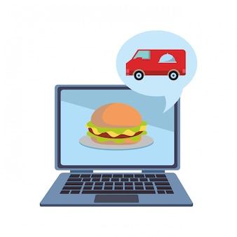 Ordine e consegna di cibo online