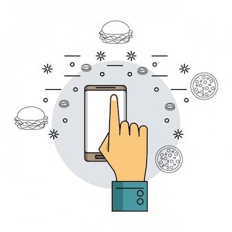 Ordini online con smartphone