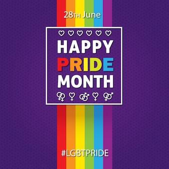 Orgoglio felice mese 28 giugno obiettivo lgbt