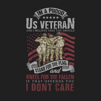 Orgoglioso di essere un veterano americano