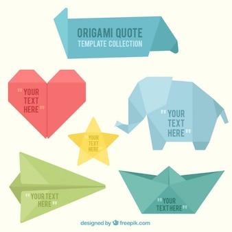 Origami banners forme divertenti
