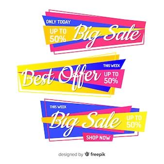 Origami vendita banner collectio