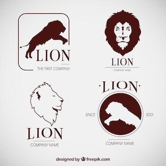 Originale insieme di loghi freschi del leone