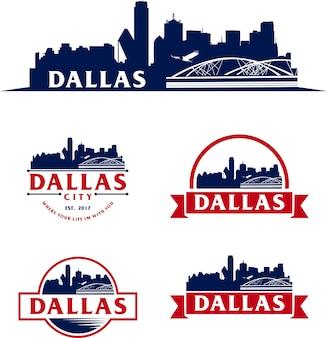 Orizzonte di dallas usa paesaggio urbano di logo