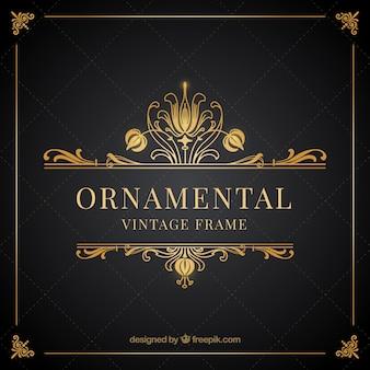 Ornamentali di vintage cornice dorata