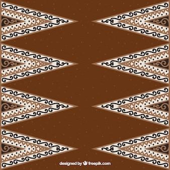 Ornamentali sfondo batik di triangoli