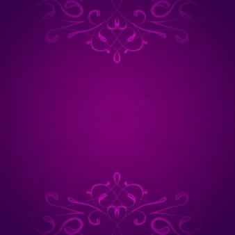 Ornamentali sfondo viola
