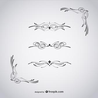 Ornamenti calligrafici e angoli