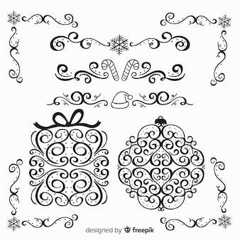 Ornamenti curvi di natale