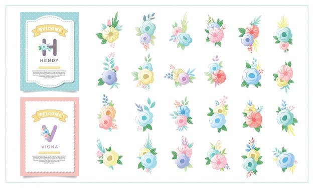 Ornamenti floreali per bambini carini