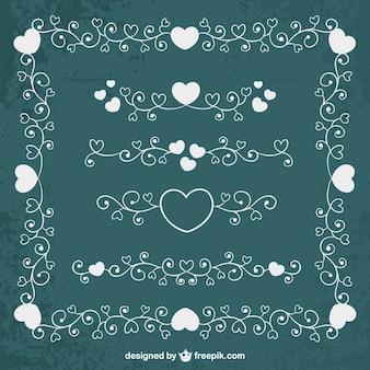 Ornamenti romantici in stile floreale