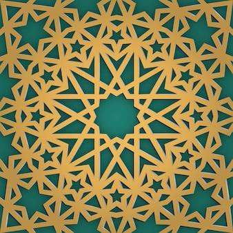 Ornamento arabo senza cuciture. trafori girish geometrici.
