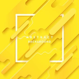 Ornamento astratto sfondo giallo