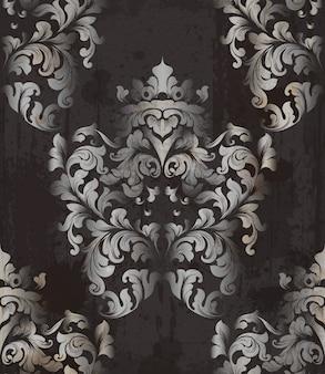 Ornamento barocco di sfondo vintage