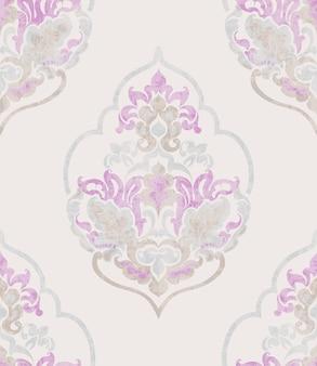Ornamento barocco. struttura alla moda dell'acquerello di lusso. vecchi stili retrò vintage