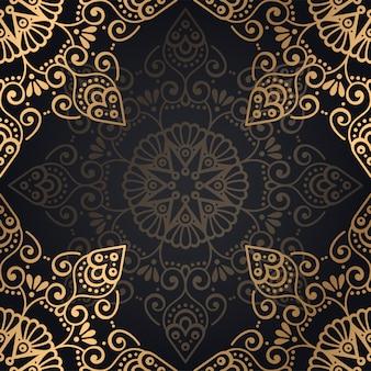 Ornamento bellissimo sfondo elemento cerchio geometrico realizzato in vettoriale