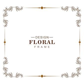 Ornamento decorativo creativo cornice floreale design
